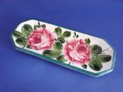 Large Wemyss Ware 'Cabbage Roses' Pen Tray c1900
